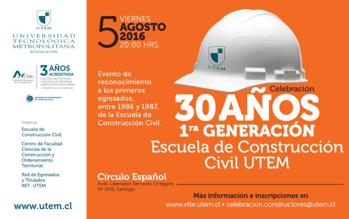 Celebración 30 años Constructores Civiles UTEM