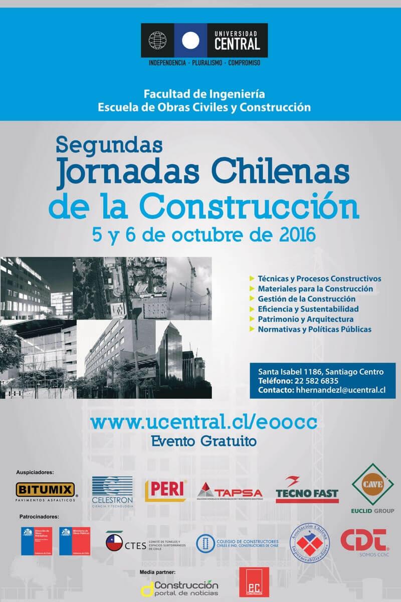 Afiche Jornadas Chilenas de la Construcción