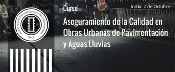 Curso Aseguramiento de la Calidad en Obras Urbanas de Pavimentación y Aguas Lluvias