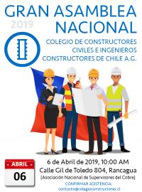 Confirmación Asistencia Asamblea Nacional 2019
